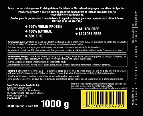 Peak Vegan Protein 1000 g Dose Neutral