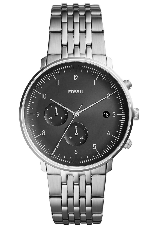 Fossil-Herren-Chronograph-Quarz-Uhr-mit-Edelstahl-Armband-FS5489