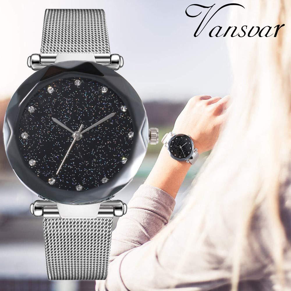Lazzgirl-vansvar-beilufige-Quarz-Edelstahlband-Newv-Bgel-Uhr-analoge-Armbanduhr