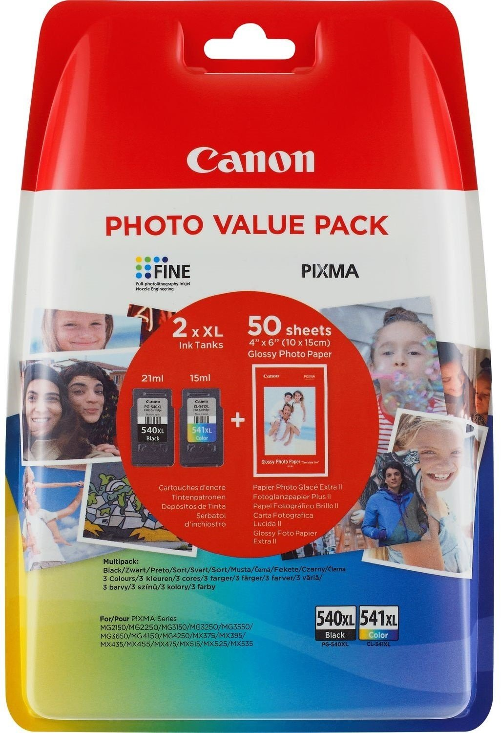 Canon-High-Capacity-Ink-Cartridge-Value-Pack-PG-540XLCL-541XL-Genuine