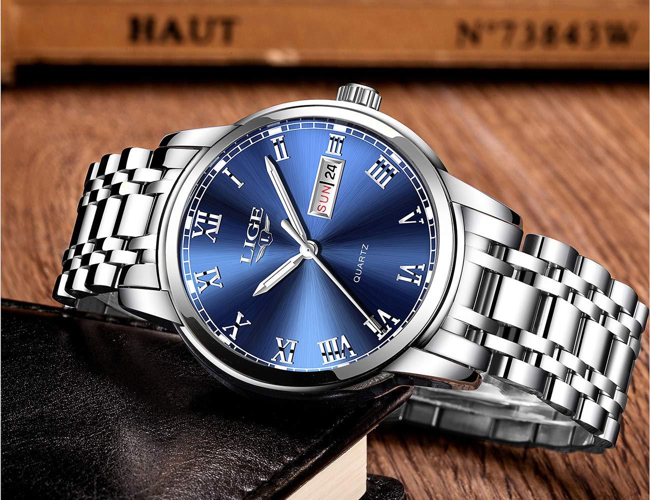 Herren-Uhr-LIGE-Wasserdicht-Edelstahl-Analog-Quarz-Uhr-mnner-Business-Date-Armbanduhr