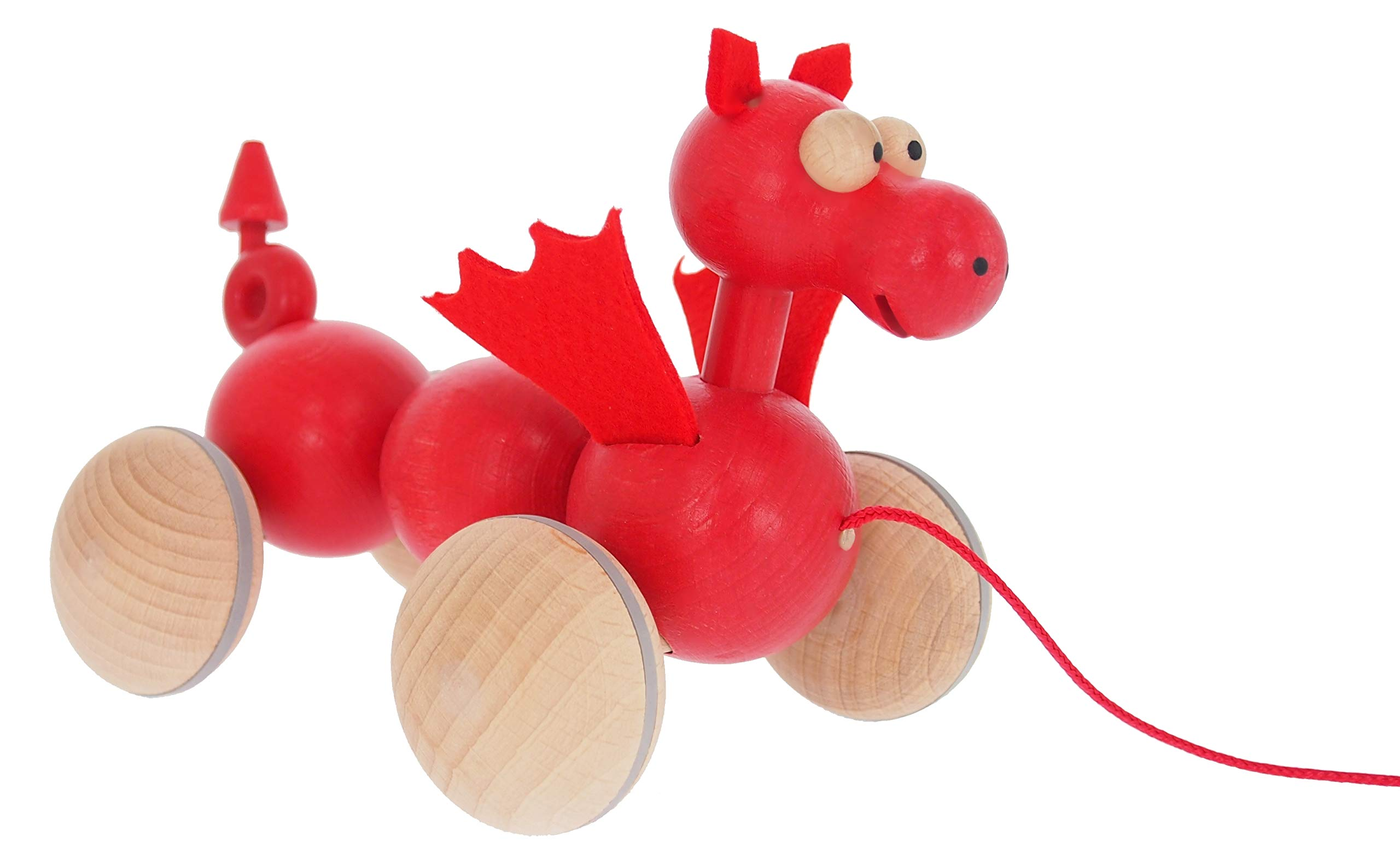 ABAfactory-68112-Nachziehtier-Walisischer-Drache-jiggling-Holz-Spielzeug