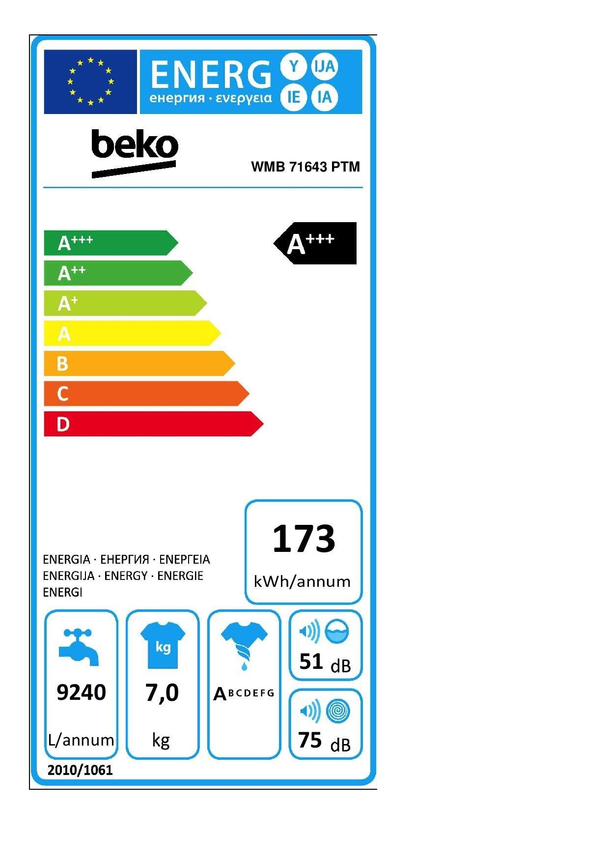 Beko-WMB-71643-PTM-Waschmaschine-FrontladerA1600-UpMBabyProtect-WaschenMengenautomatik