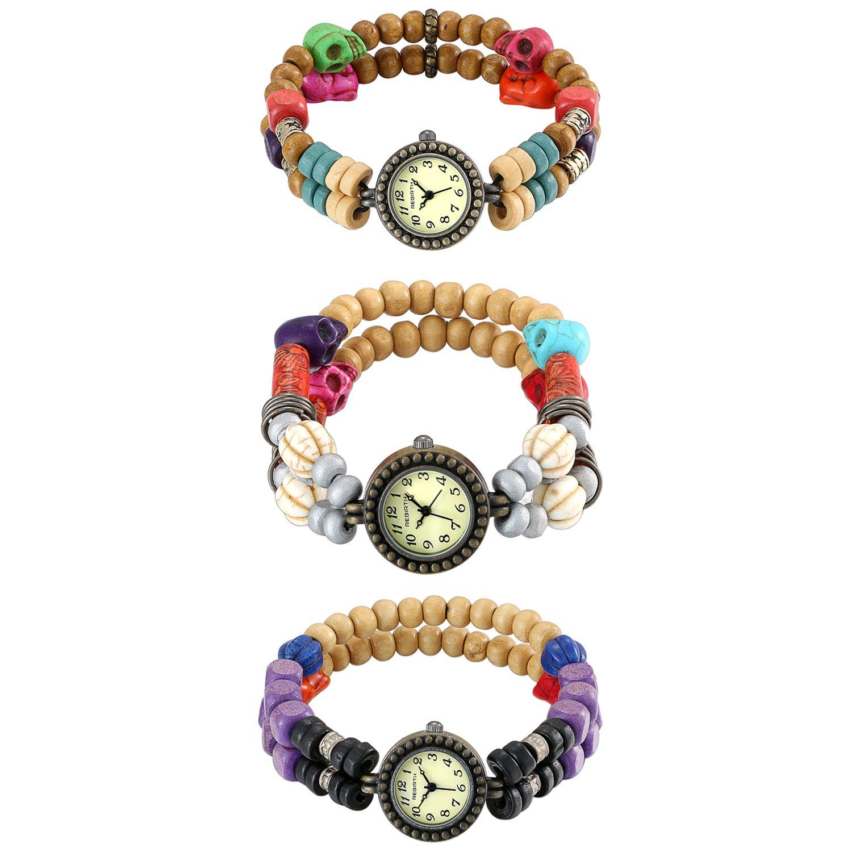 JewelryWe-Damen-Totenkopf-Schdel-Bunte-Holzperlen-Gebetsarmband-Uhren-Frauen-Casual-Retro-Stil-Analog-Quarz-Uhr-Mode-Kleid-Armbanduhr-Vintage-Damenuhren-3-Verschiedenen-Modelle