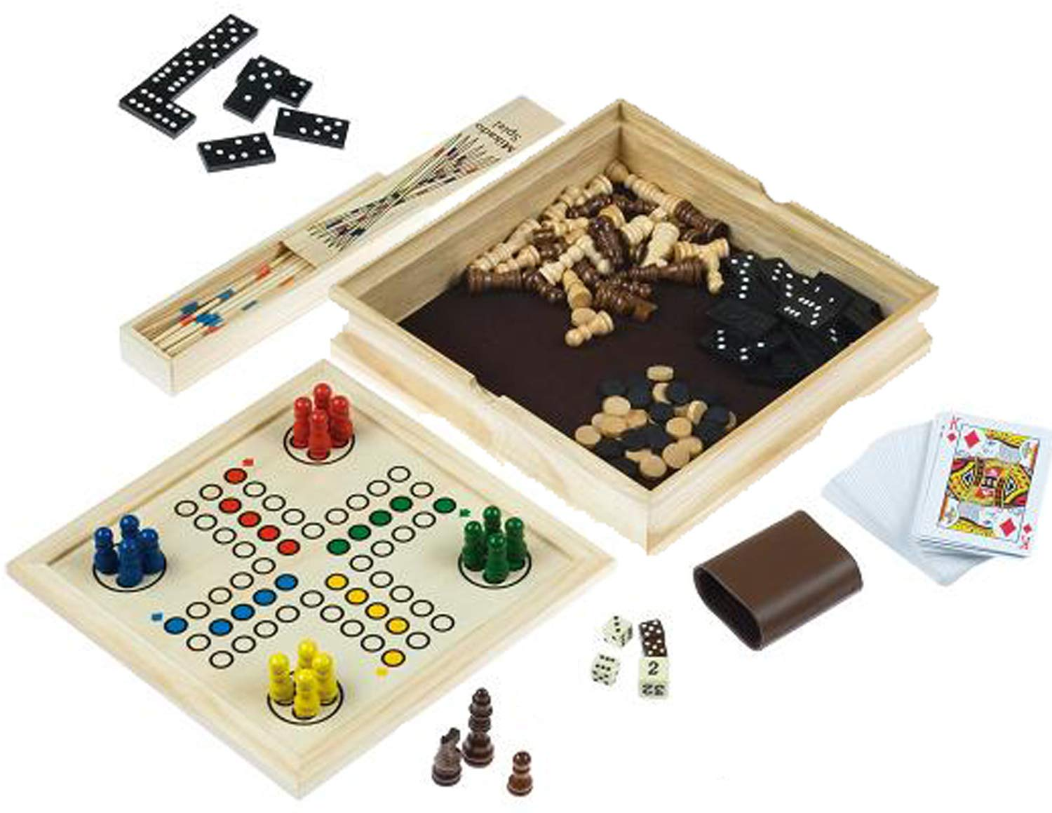Deluxe-large-over-10-in-1-wooden-games-compendium-dice-games-board-games-card-games-more-by-Longfield