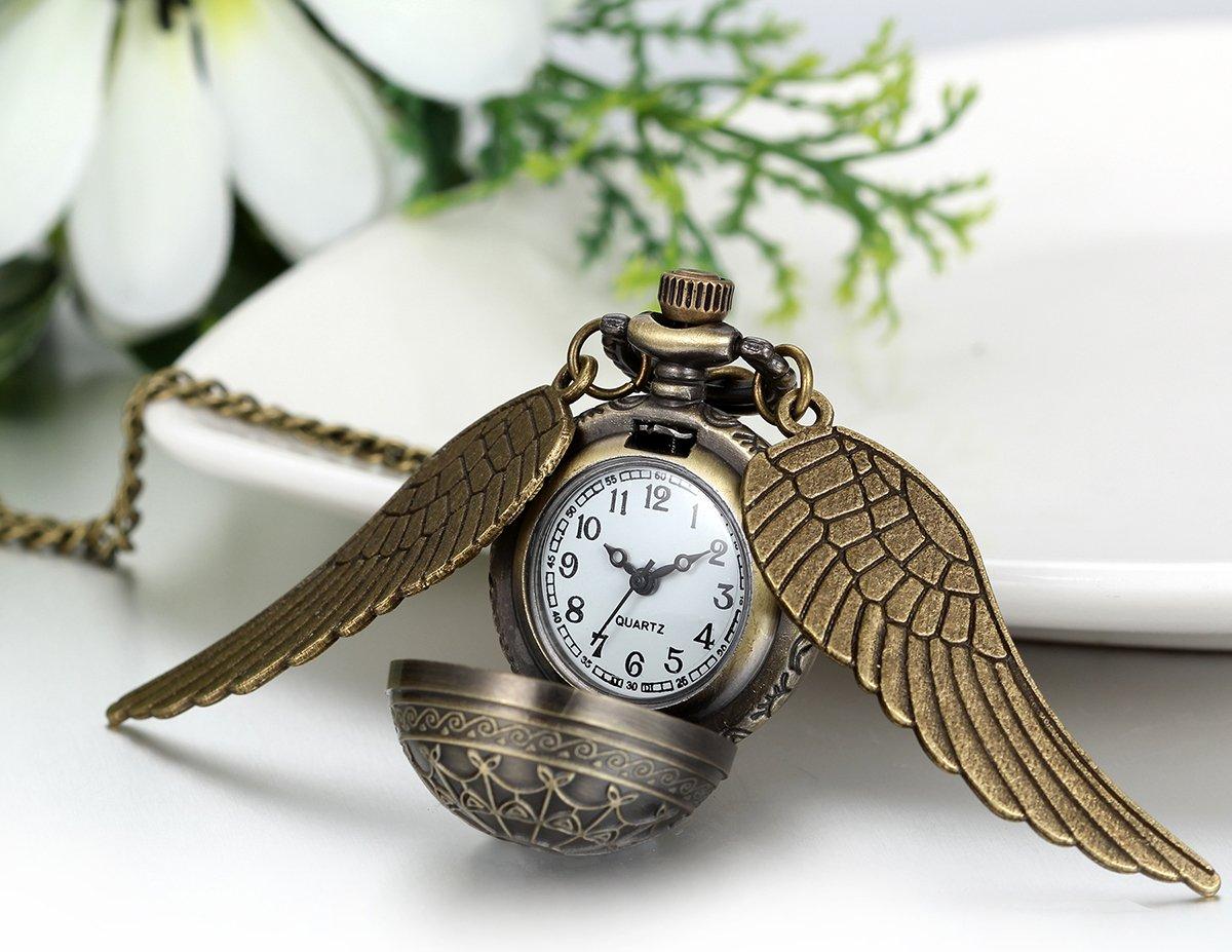 JewelryWe-Herren-Damen-Taschenuhr-Klassiker-Vintage-Engelsflgel-Uhr-Anhnger-Analog-Quarz-Kettenuhr-Pullover-Halskette-Kette