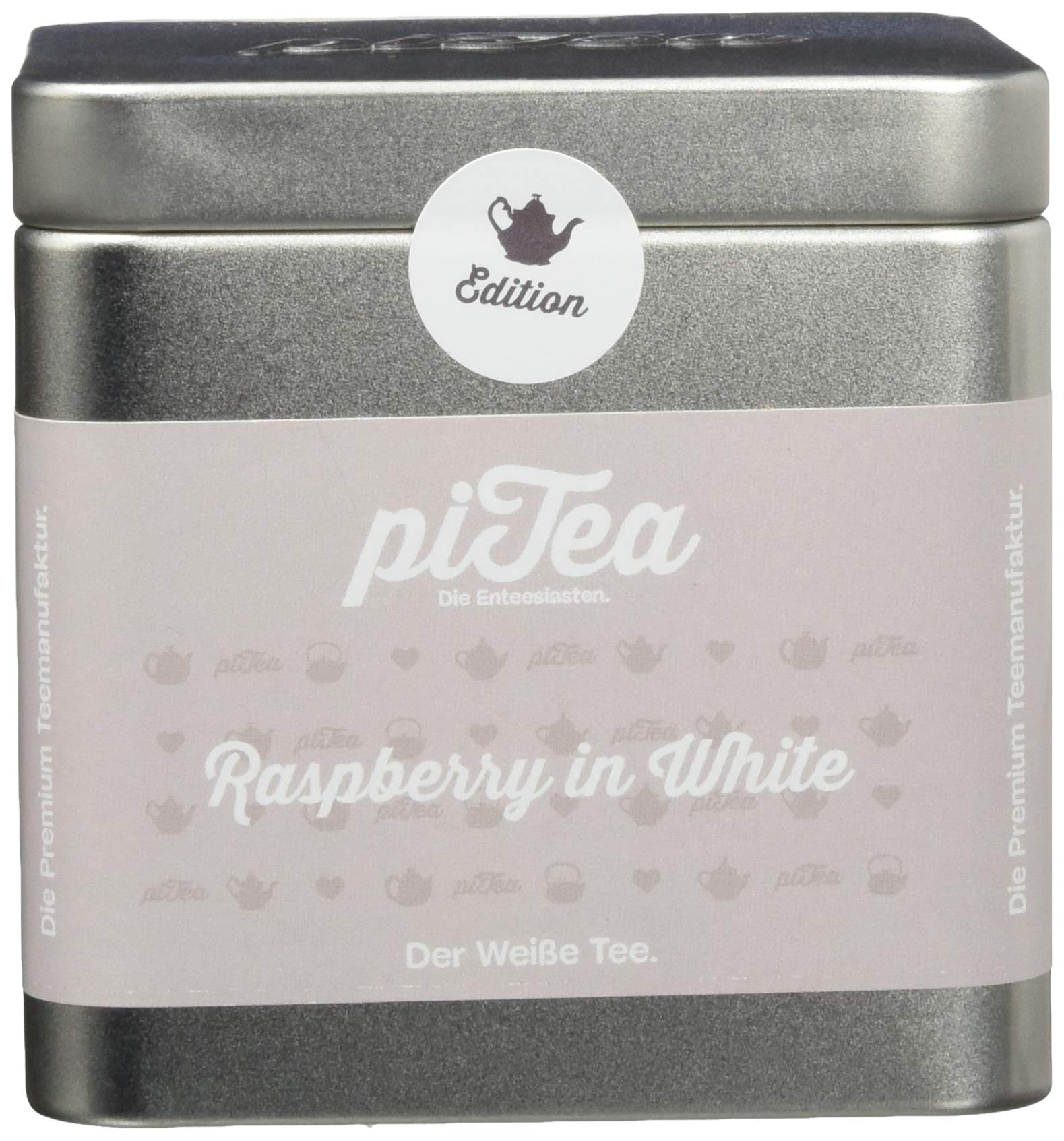 Pi-Tea-Raspberry-in-White-Dose-Weier-Tee-Teestation-natrlich-und-vegan-2er-Pack-2-x-50-g