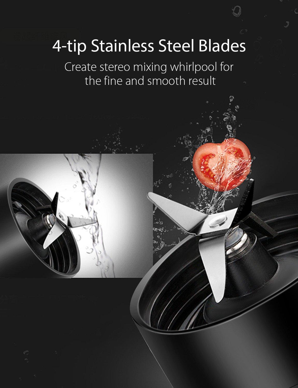 Smoothie-Maker-Willsence-Smoothie-Mixer-300-Watts-Standmixer-mit-Tritan-BPA-Frei-Flasche-und-Edelstahlmesser-