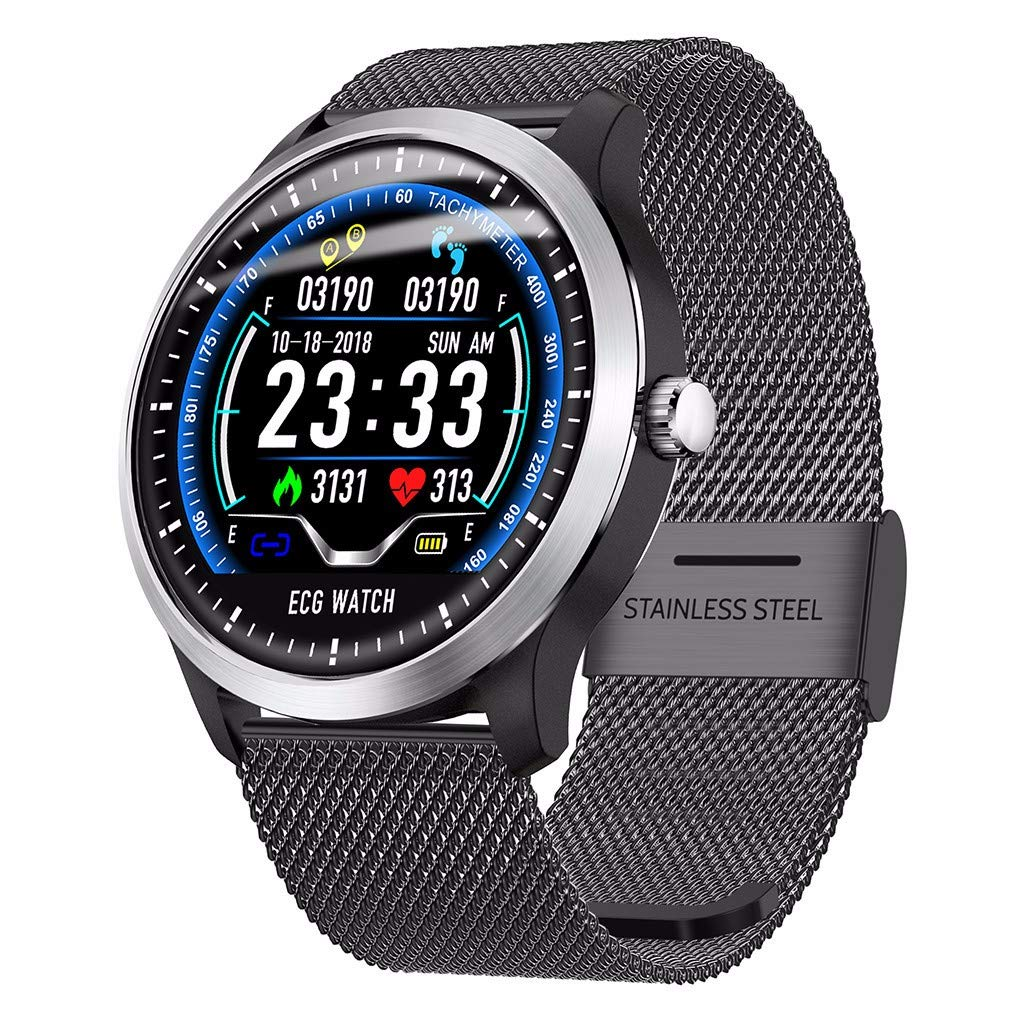 LRWEY-Fitness-Smart-Watch-122-Zoll-EKG-Anzeige-Blutdruck-Pulsmesser-3D-UI-Tracker-Smart-Uhr-fr-Android-iOS