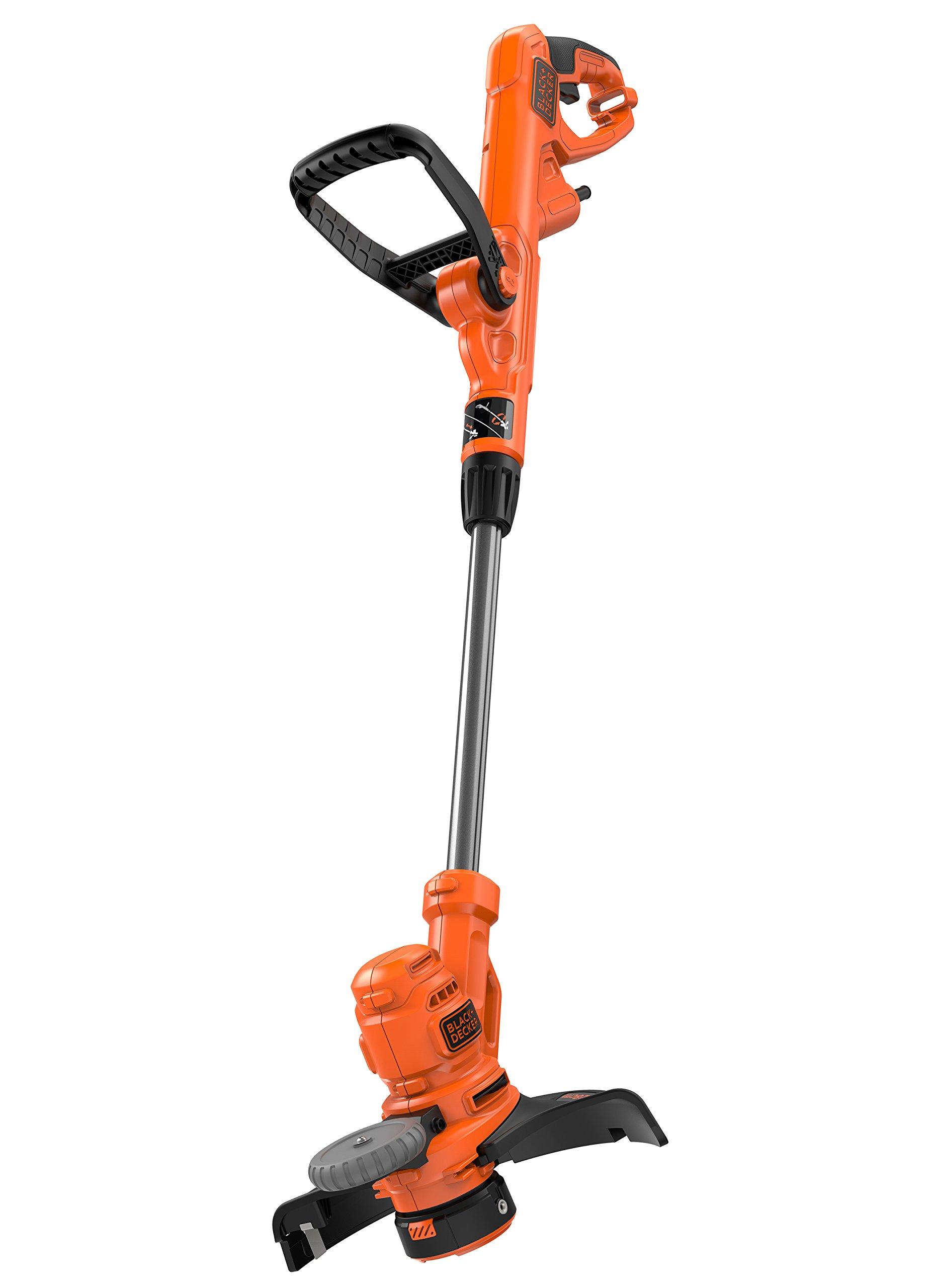 Black-Decker-Elektro-Rasentrimmer-kantenschneider-550W-30-cm-Schnittbreite-E-Drive-AFS-automatische-Fadenverlngerung-werkzeuglos-umstellen-von-Trimmen-auf-Kantenschneiden