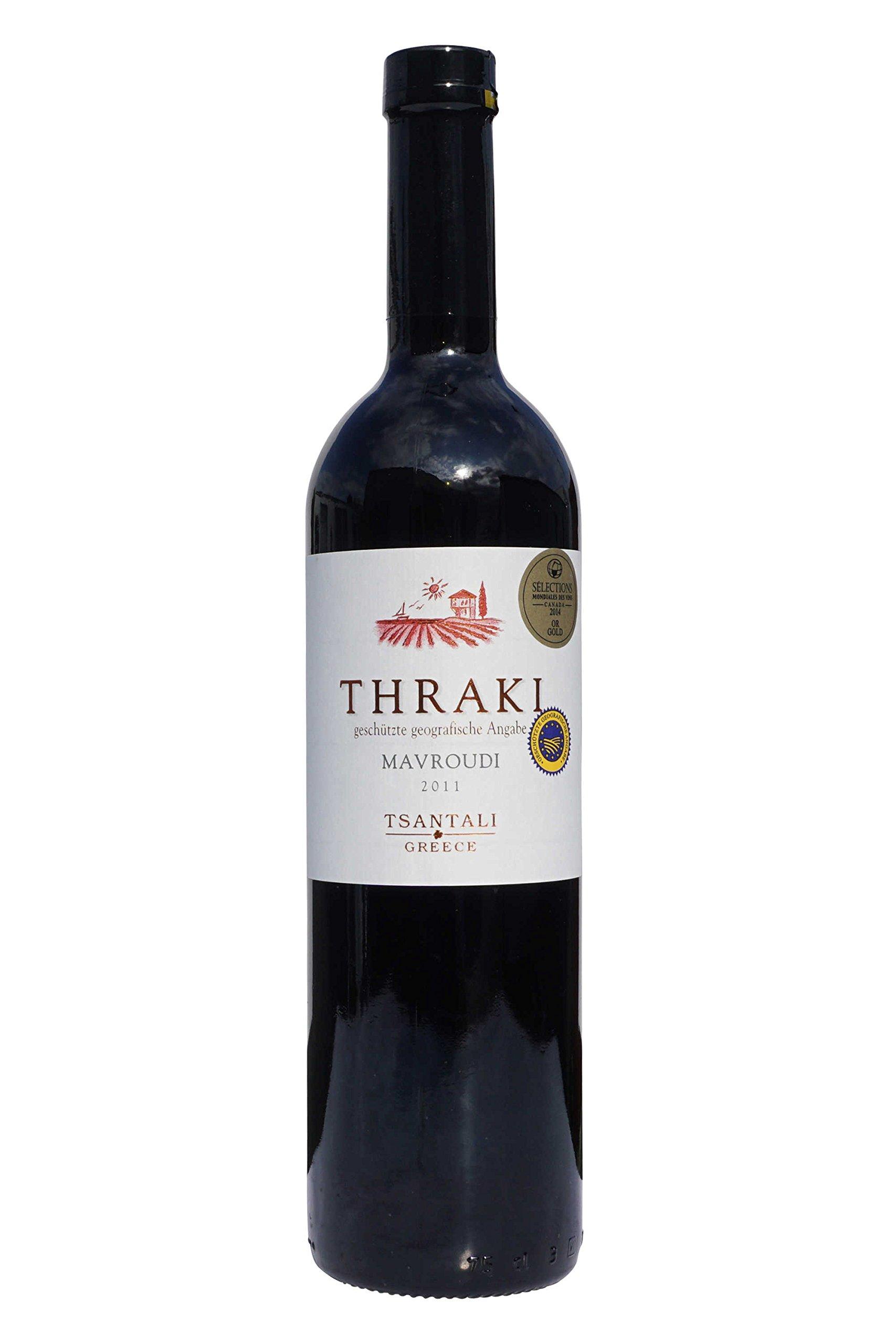 Thraki-Mavroudi-Rotwein-trocken-750ml135-Tsantali-griechischer-roter-Wein-aus-Chalkidiki-6-Monate-gereift