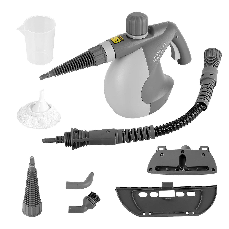 MVPower-Dampfreiniger-Mehrzweck-Handdampfreiniger-mit-10-Zubehrteilen-Sicherheitsverrieglung-350ml-Wasserbehlter-Elektrischer-Dampfreiniger-fr-Kche-Bad-Boden-Fenster-Teppich-Autositze