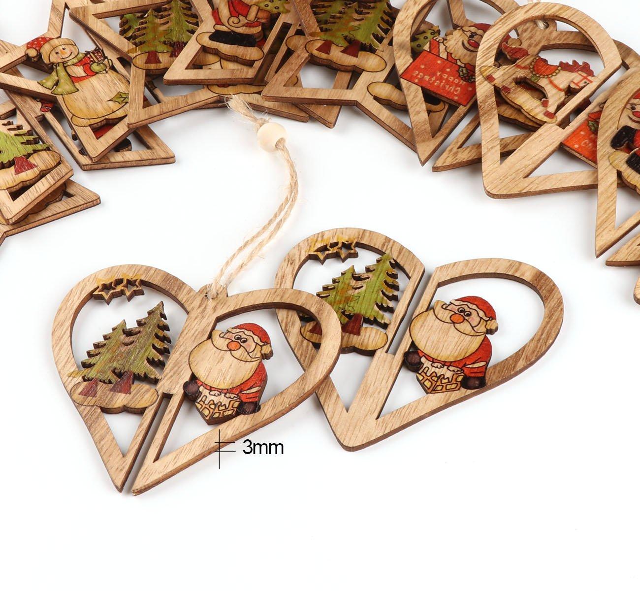 3D-Weihnachtsbaum-Deko-Weihnachtsbaumschmuck-Cubewit-6er-Christbaumschmuck-Handgemachte-Holz-Anhnger-Weihnachten-Weihnachtsmann-Weihnachtsbaum-Schlitten-Schneemann