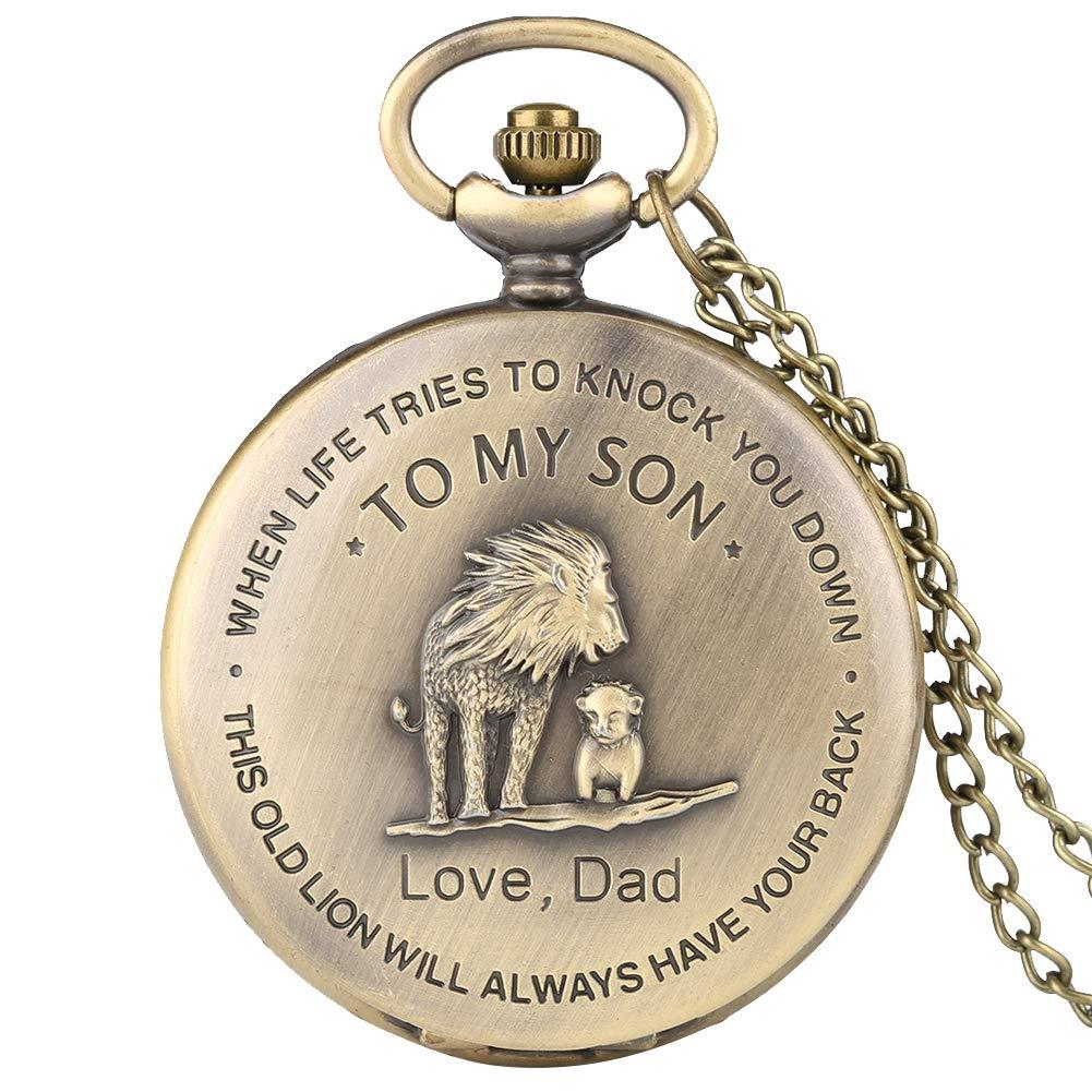 Taschenuhr-fr-Herren-Steampunk-Lwe-Geschenk-fr-Sohn-von-Vater-Retro-Bronze-Quarz-Taschenuhren-mit-Kette-fr-Mann-und-Jungen