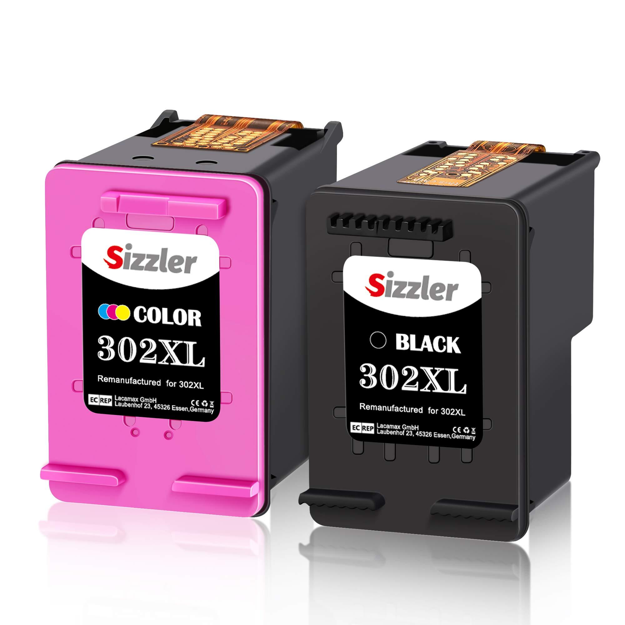 Sizzler-302XL-Remanufactured-Ersatz-fr-HP-302-Druckerpatronen-Kompatibel-mit-HP-DeskJet-3630-3636-2130-3632-1110-3637-Envy-4525-4520-4527-4522-OfficeJet-3830-3831-4655-3833-4650-Schwarz-Farbig-1-Schwa