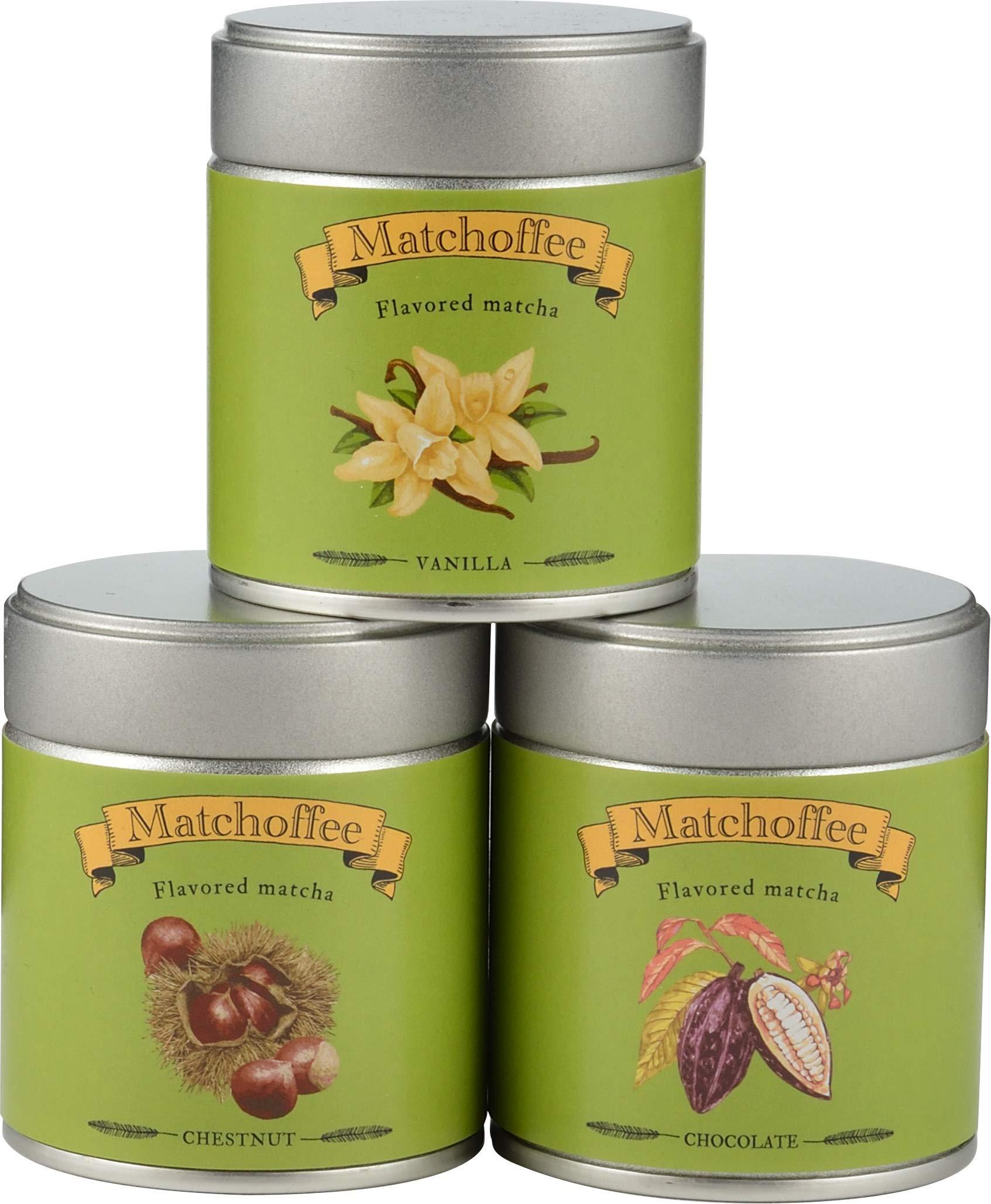3-Dosen-Zeremonieller-Matcha-Grner-Tee-Pulver-Geschenkbox-3-Geschmacksrichtungen-60-g-Vanille-Schokolade-Kastanie-Hochwertiger-japanischer-Matcha-aus-biologischen-Teeblttern