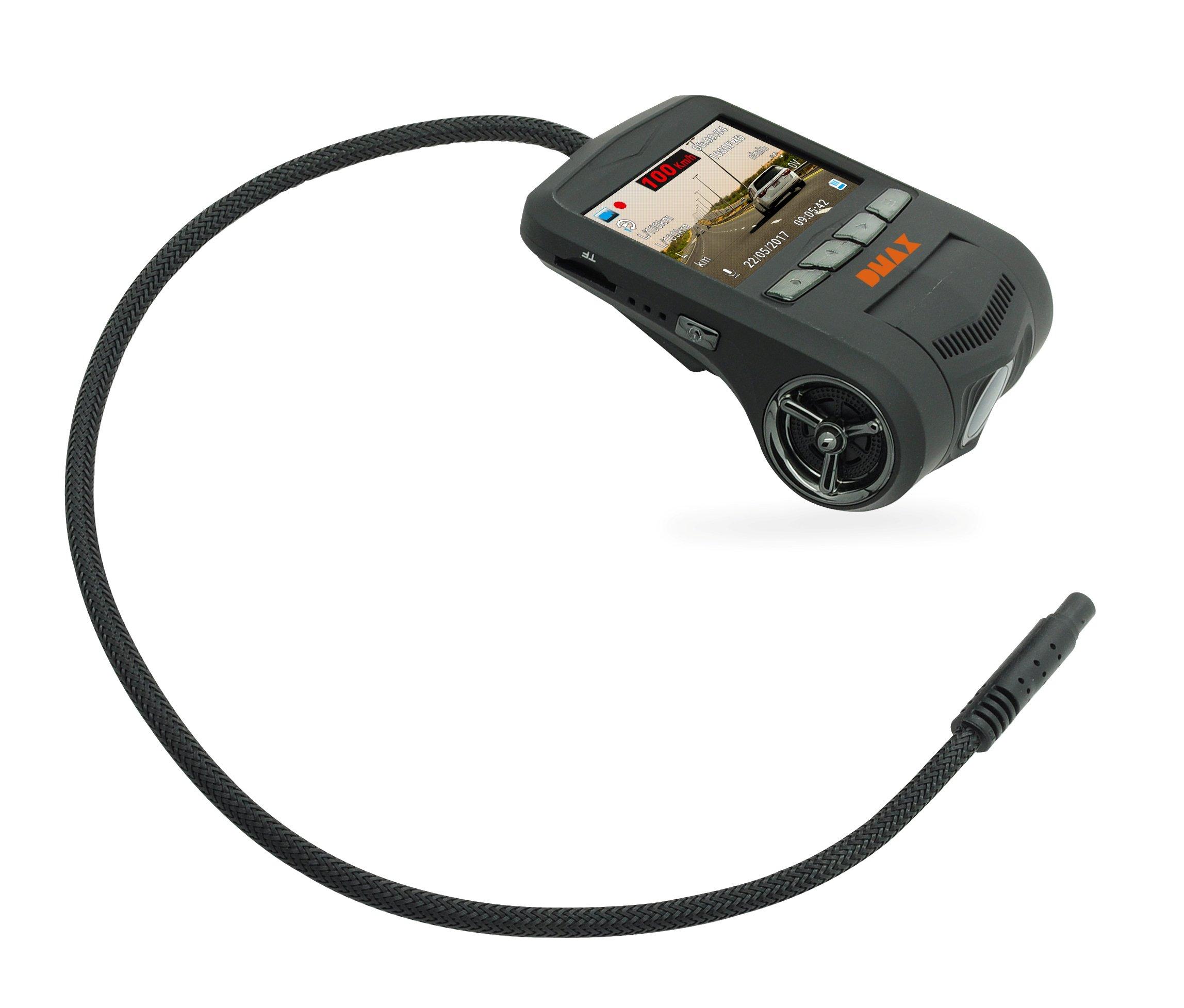 DMAX-Full-HD-Dash-Kamera-mit-Fahrzeug-Datenbertragung-per-OBD-Anschluss-1920×1080-Px-Videoauflsung-fr-Tages-Nachtaufnahmen-170-Erfassungswinkel-und-WiFi