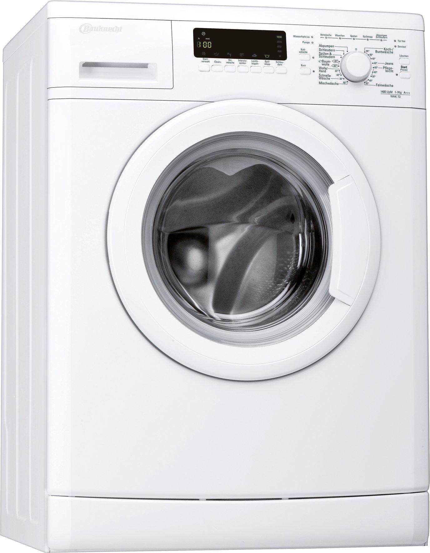 Bauknecht-WAK-73-Waschmaschine-FLA-171-kWhJahr-1400-UpM-7-kg-9900-LJahrMengenautomatikUnterbaufhigwei