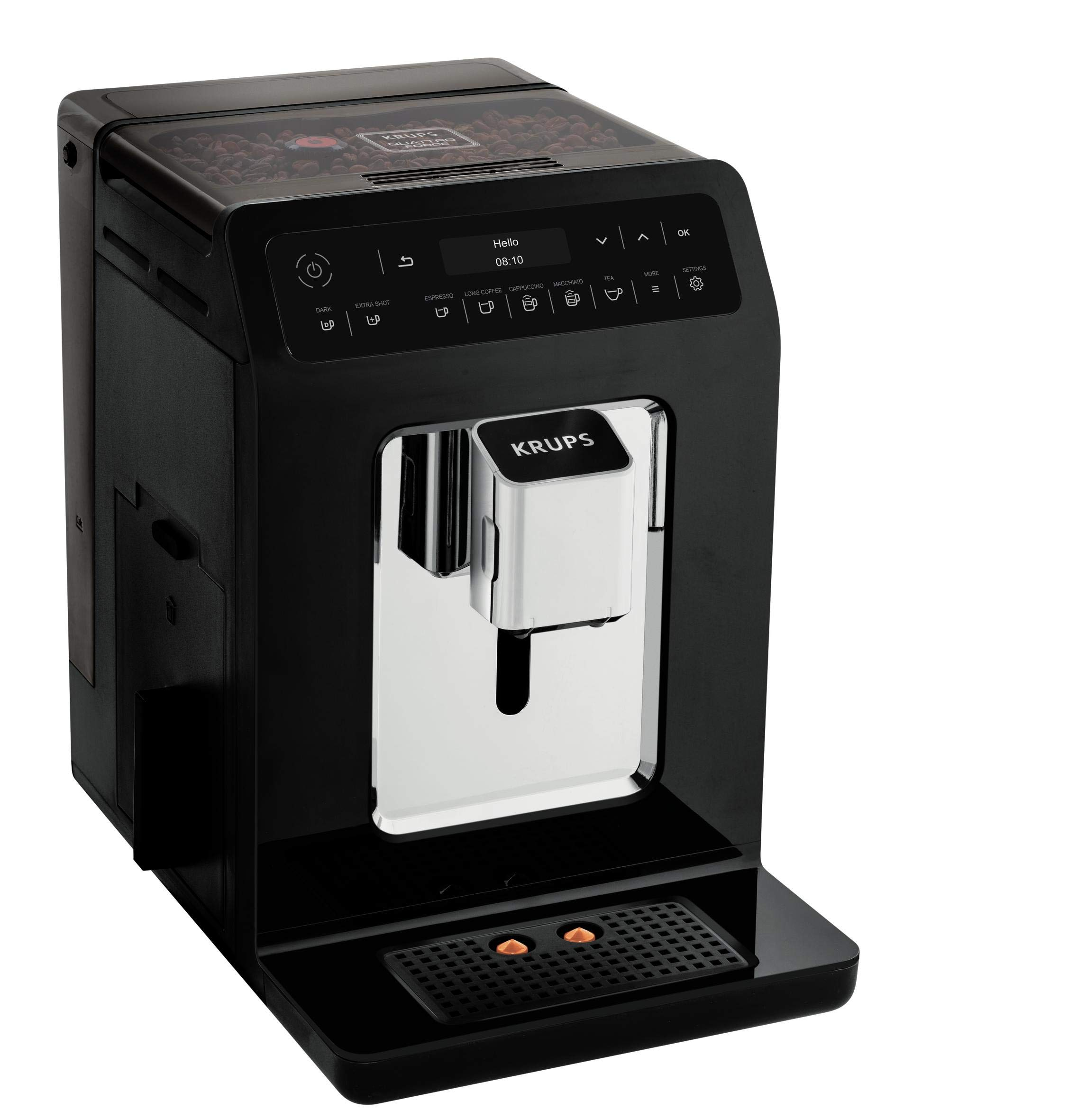 Krups-Evidence-EA8908-Kaffeevollautomat-1450-23-liters-SchwarzChrome