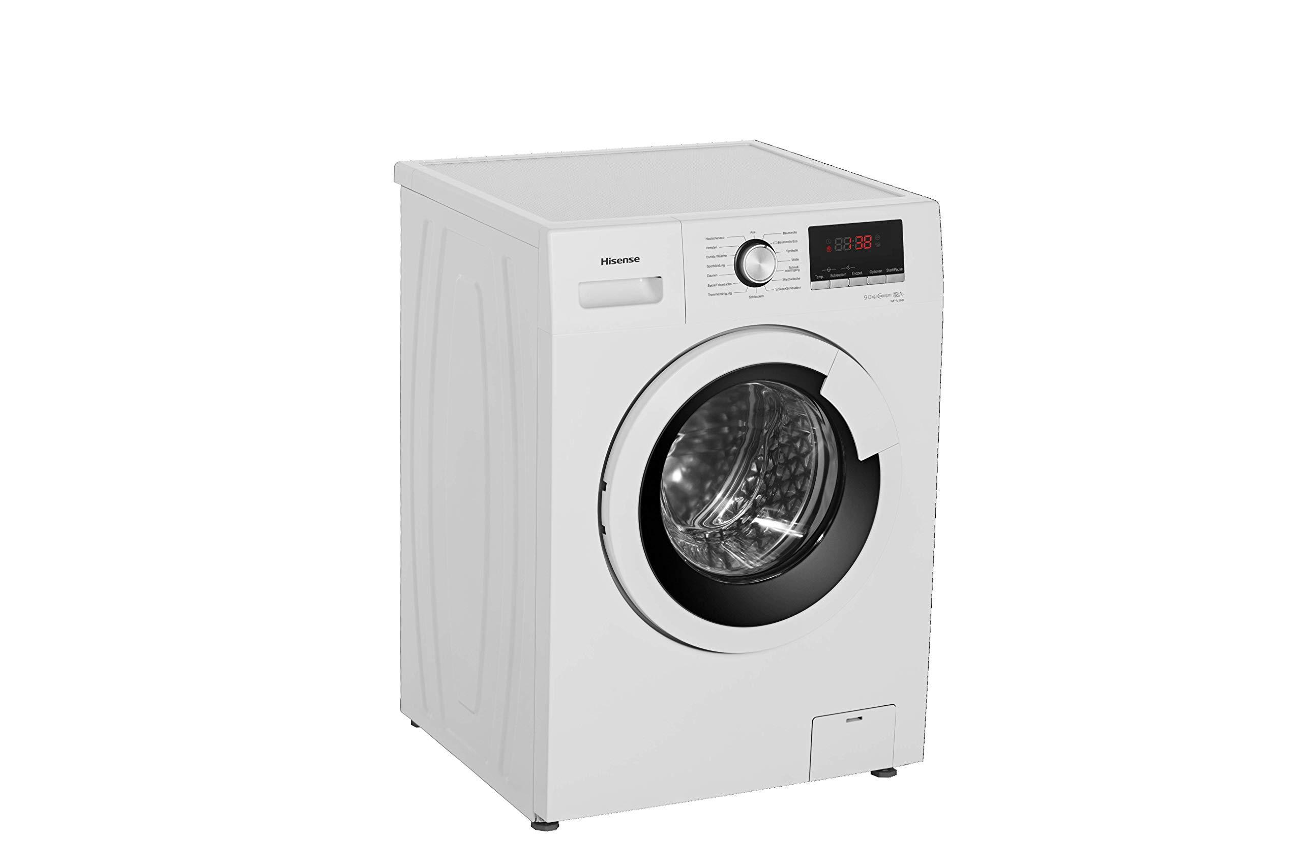 Hisense-WFHV9014-Waschmaschine-FrontladerA-1400UpM-Trommelreinigungsprogramm-reinigt-die-Trommel-ganz-ohne-ChemieWei
