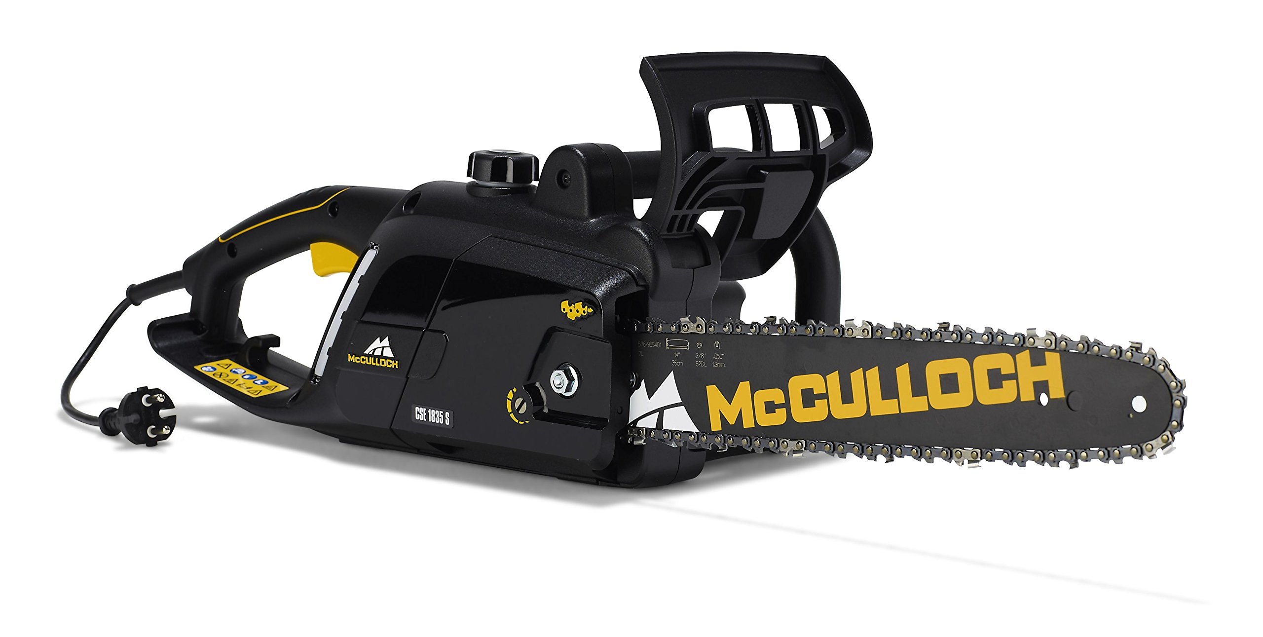 McCulloch-00096-7147901-Kettensge-Elektro-CSE1835-1800-W-Schwarz-Gelb