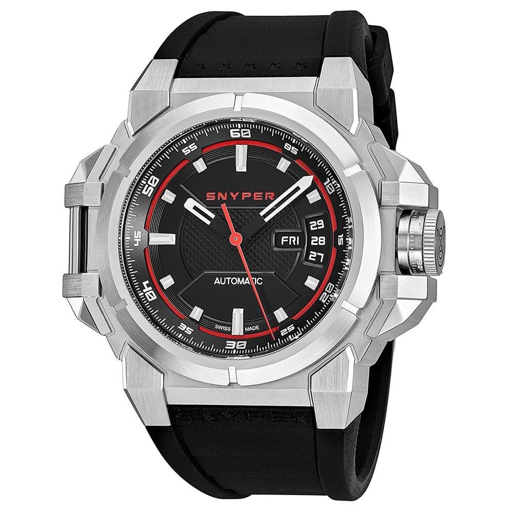 Snyper-Herren-Armbanduhr-43mm-Armband-Kautschuk-Schweizer-Automatik-2000000