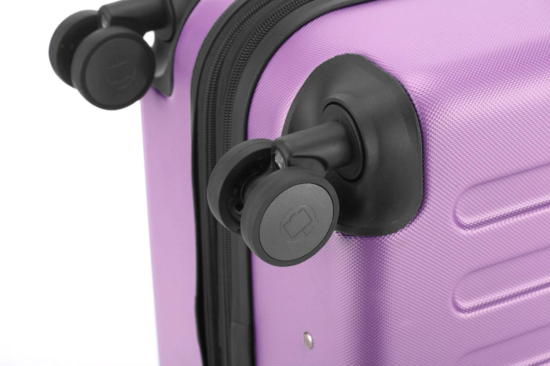 Hauptstadtkoffer-Spree-Handgepck-Kabinentrolley-Bordgepck-Hartschalen-Koffer-sehr-leicht-TSA-55-cm-42L-Flieder-Gepckgurt