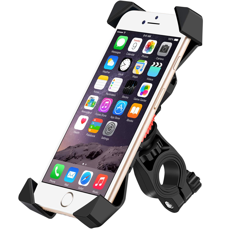 IceFox-Handyhalterung-FahrradUniversal-Anti-Shake-Fahrrad-Motorrad-HandyhalterungSmartphone-Fahrradhalterung-Mit-360-Drehen-fr-35-65-Zoll-SmartphoneGPSAndere-Gerte