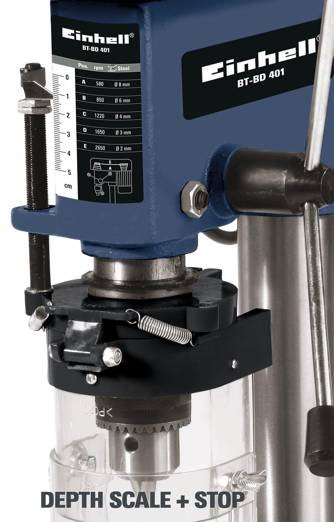 Einhell-Sulenbohrmaschine-BT-BD-401-350-W-Bohr–15-13-mm-Bohrtiefe-50-mm-Drehzahlregelung-stufenlose-Tischhhenverstellung