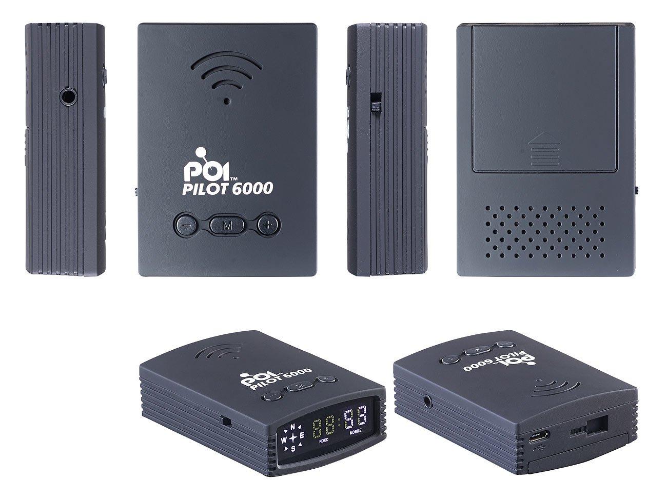 POI-Pilot-6000-Radarwarner-GPS-Gefahren-Warner-mit-POI-Daten-fr-DACH-3-Jahre-kostenl-Updates-Blitzerwarner