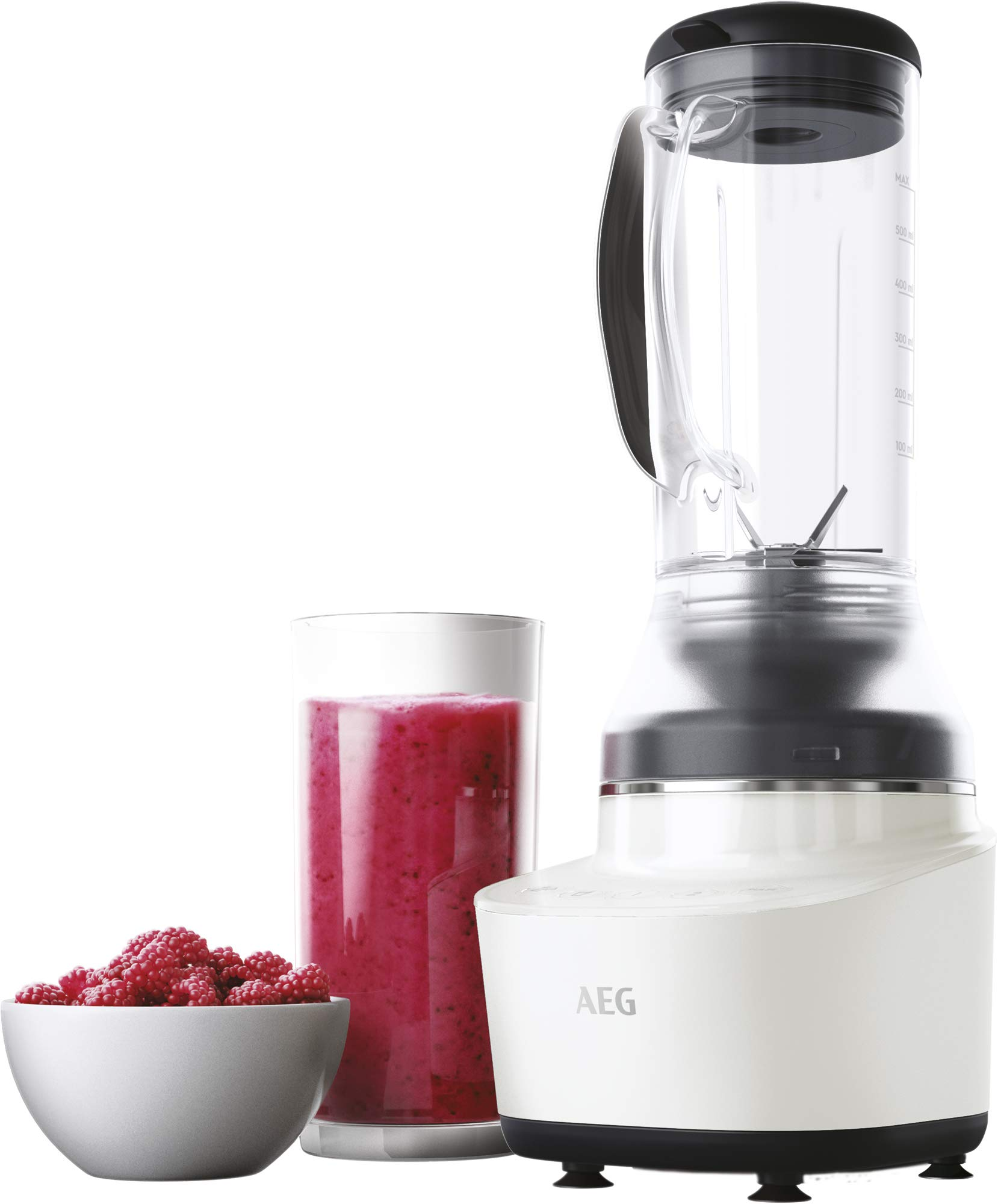 AEG-Gourmet-7-Kompaktmixer-CB7-1-4CW-12-PS-2-Stufen-plus-2-Rezeptprogramme-06-l-Tritan-Krug-6-Klingen-Edelstahlmesser-Tasten-mit-LED-Hinterleuchtung-BPA-frei-weischwarz