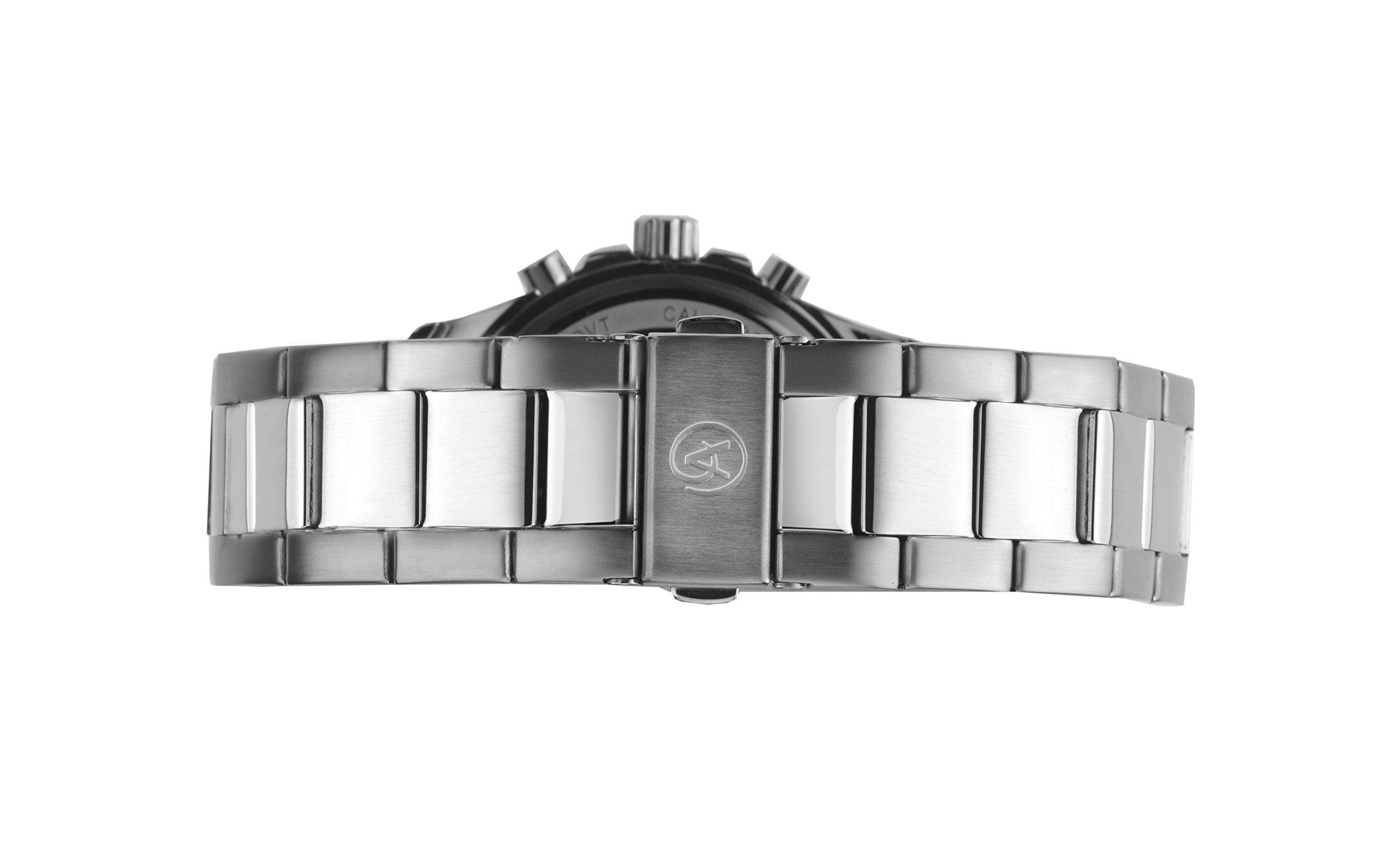 Accurist-Herren-Chronograph-Uhr-mit-Edelstahl-Armband-720401