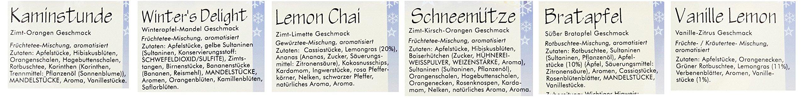 Quertee-Nr-7-Winter-und-Weihnachtstee-verschiedene-Beutel-Geschenk-1er-Pack-6-x-50-g