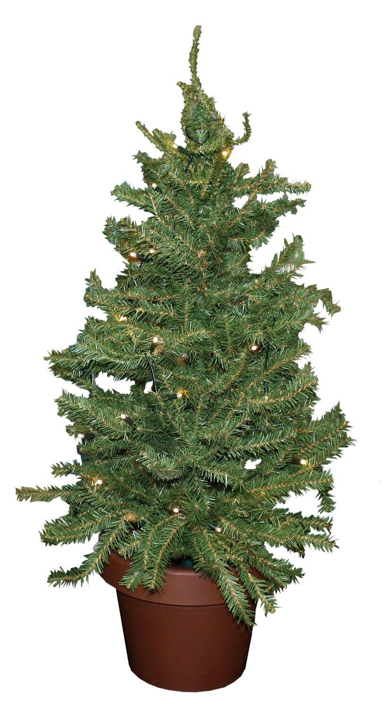 Idena-8582019-Weihnachtsbaum-im-Topf-mit-35-warm-weien-LED-ca-55-cm