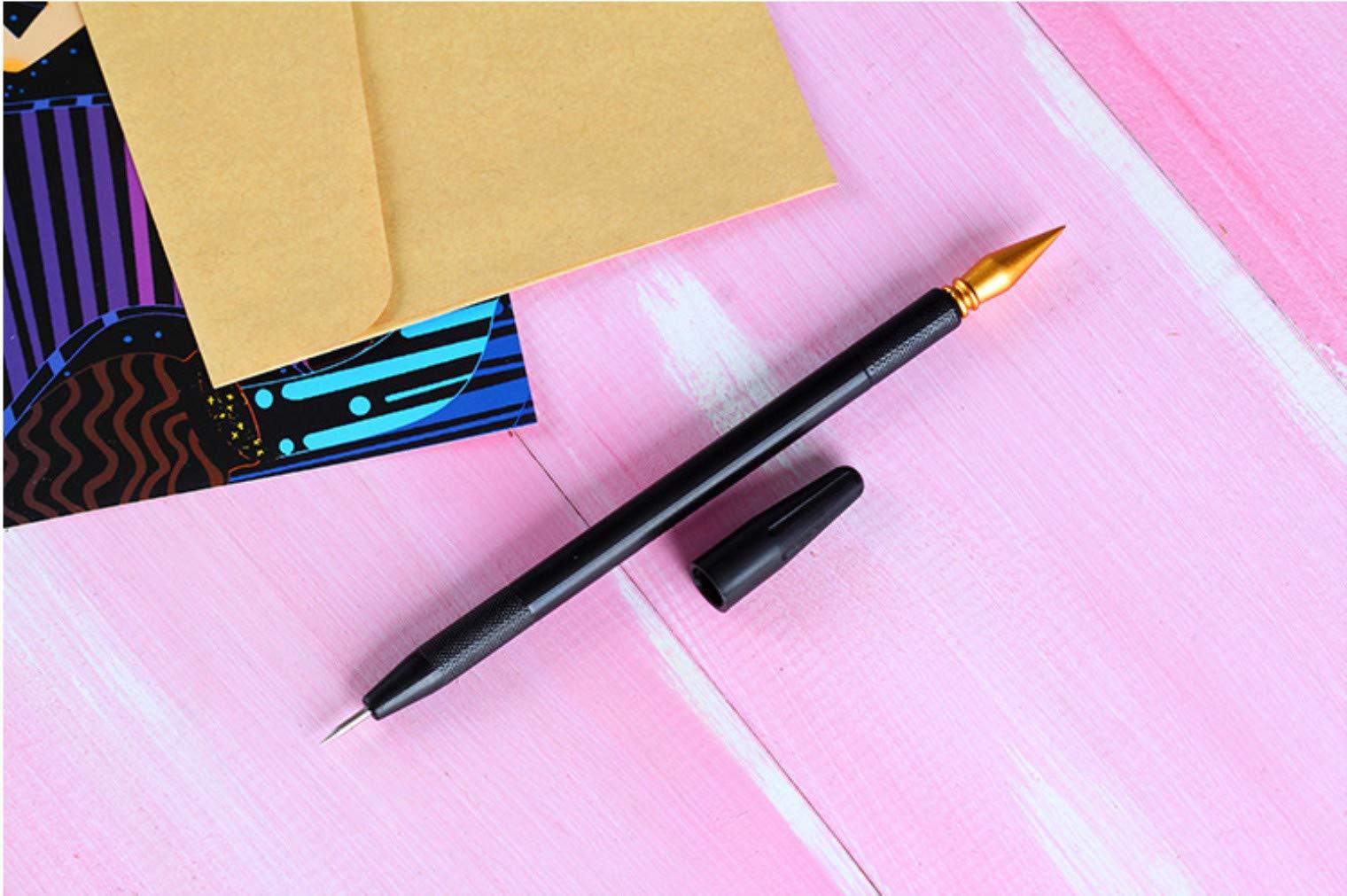 5-StckSet-Kratzmalerei-Kunst-Werkzeuge-Malerei-Zeichnen-Kunst-Werkzeuge-Set