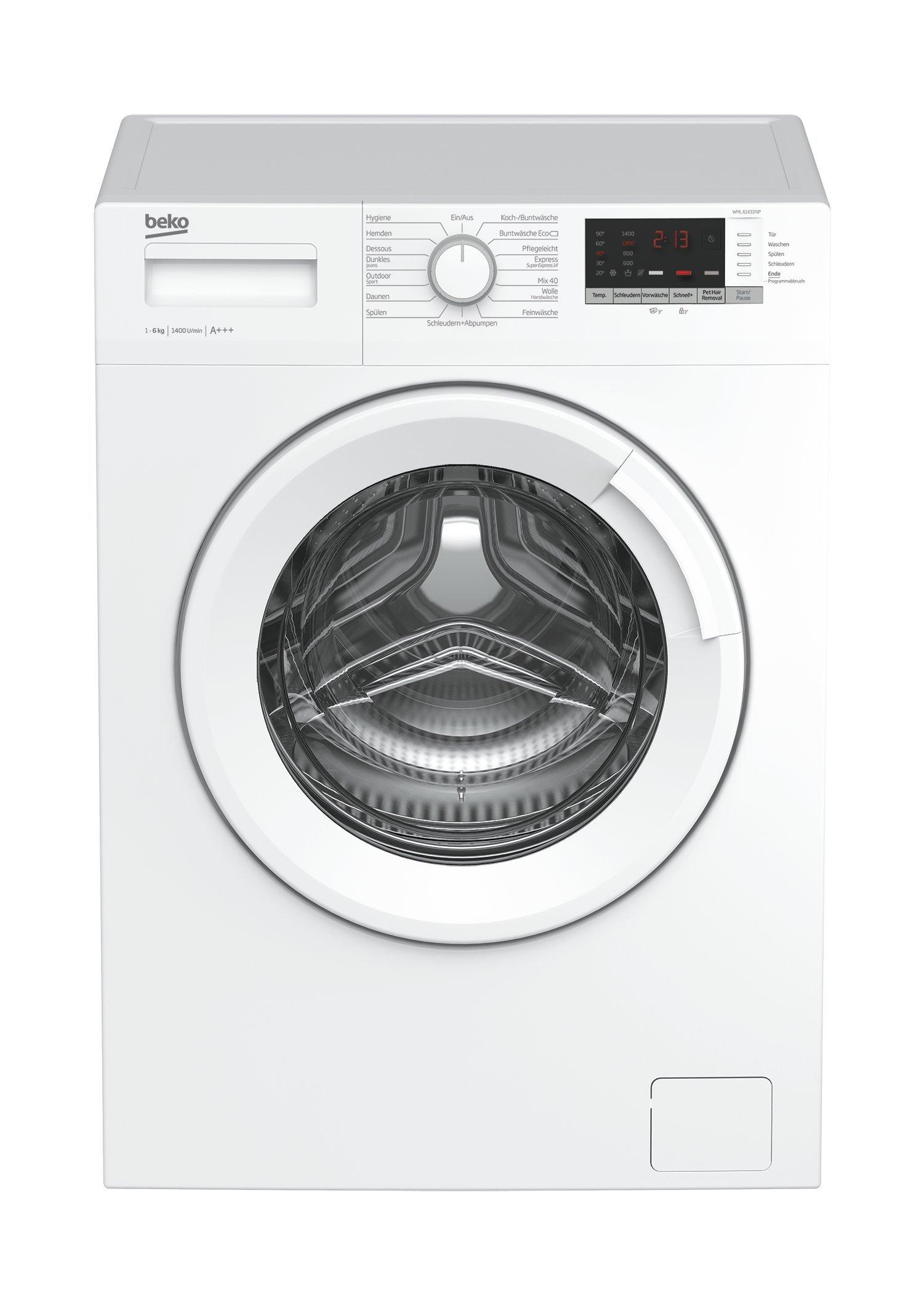 Beko-WML-NP-Waschmaschine-Frontlader6kgAMengenautomatikPet-Hair-Removal15-ProgrammeWatersafe