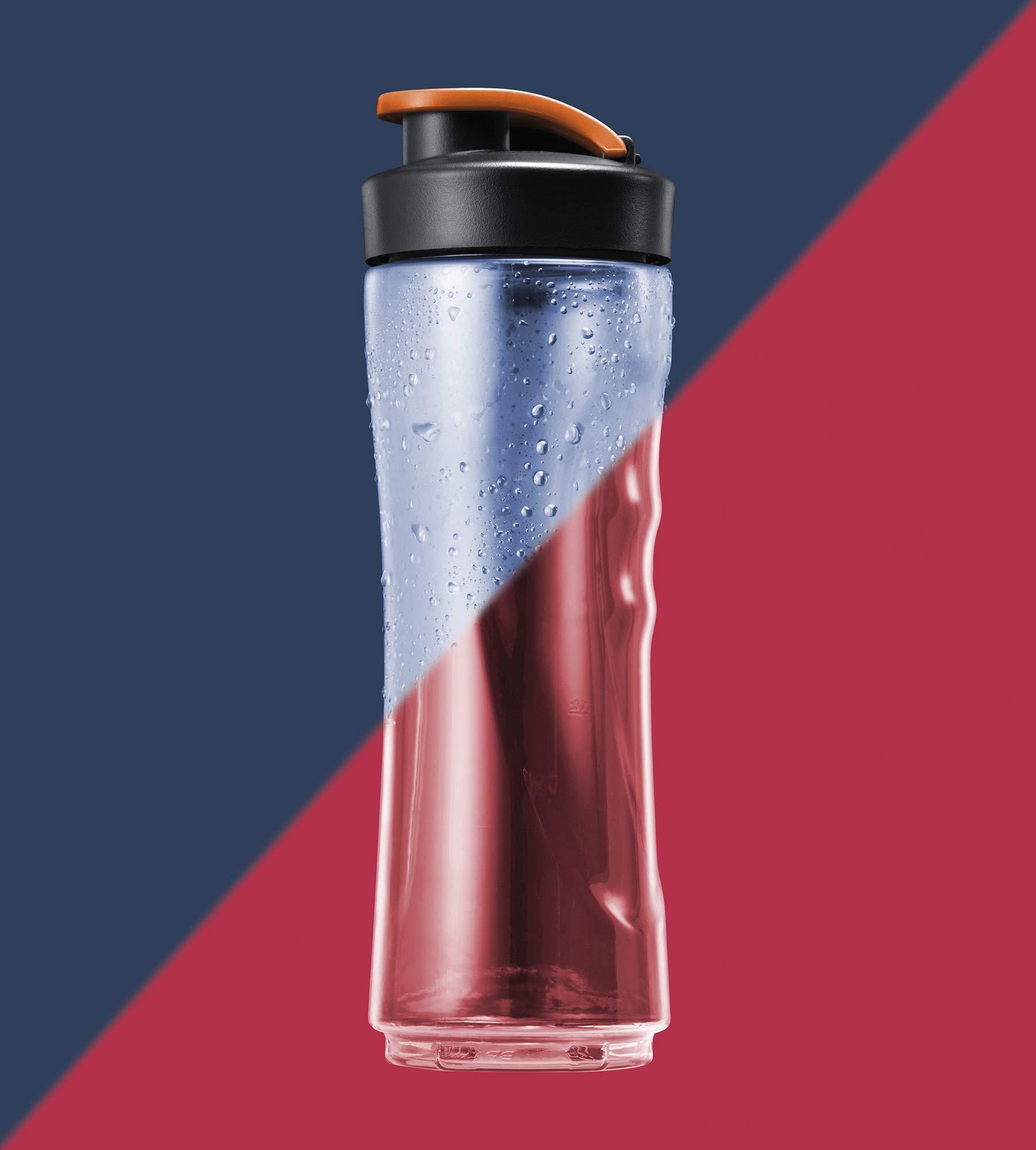 AEG-Standmixer-SB2500-300-Watt-2-x-06l-transparente-skalierte-splmaschinenfeste-Tritan-Trinkflaschen-Klte-und-hitzebestndig-Smoothies-Bowls-Sorbets-EdelstahlSchwarz