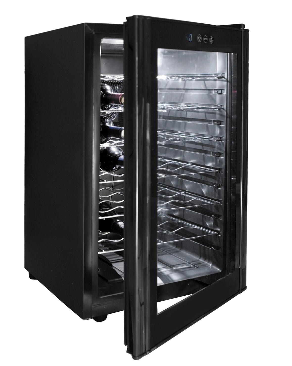 Lacor-69175-28-Flaschen-Weinkhler-1018-Edelstahl-schwarz
