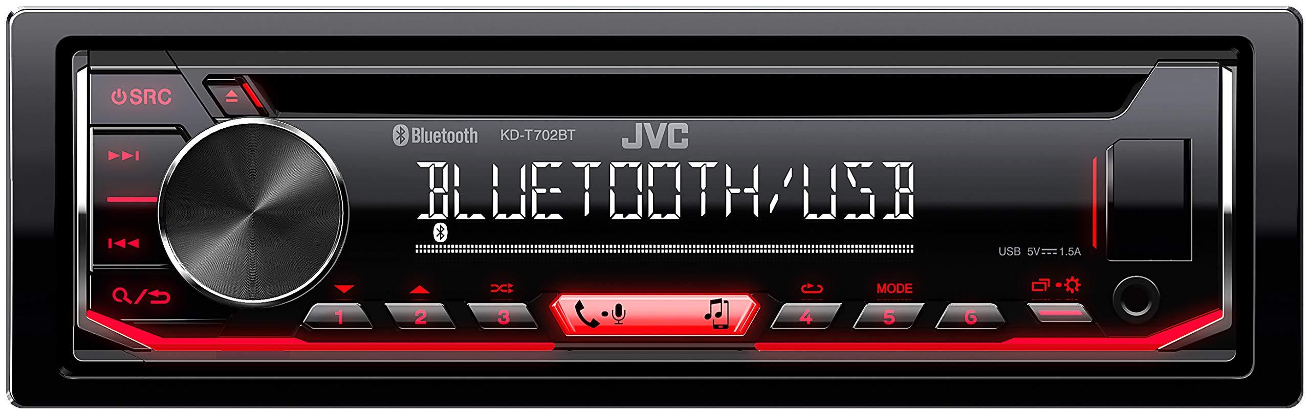 JVC-KD-T702BT-CD-Autoradio-mit-Bluetooth-Freisprecheinrichtung-Hochleistungstuner-Soundprozessor-USB-Android-Spotify-Control-4×50-Watt-RotSchwarz