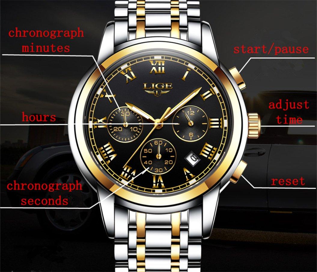 LIGE-Baby-Jungen-Analog-Quartz-Uhr-mit-Edelstahl-Armband-DS14