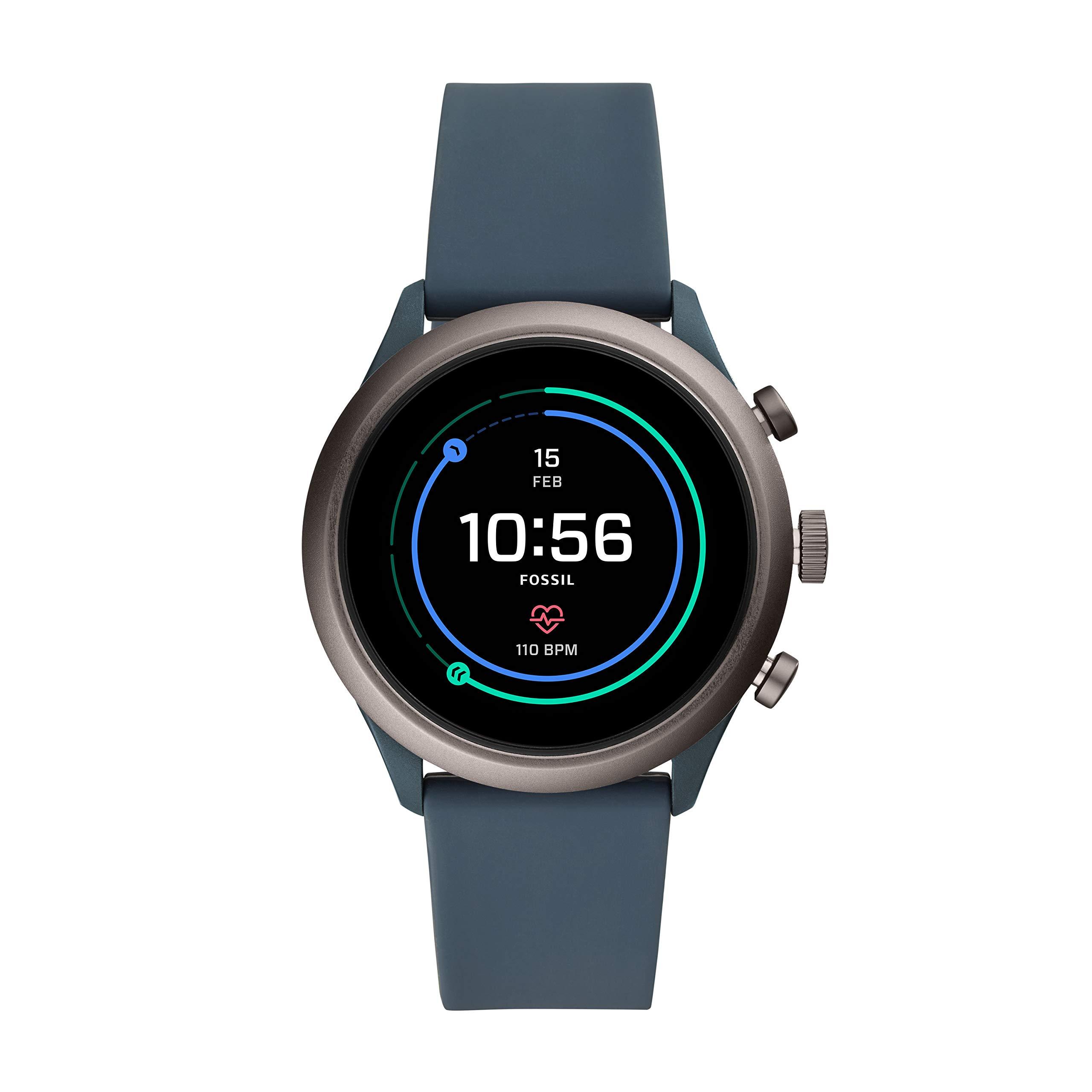 Fossil-Herren-Smartwatch-mit-Silikon-Armband-FTW4021