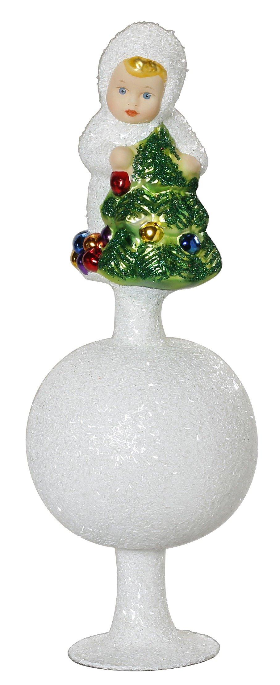 Christbaumspitze-Schneekind-mit-Weihnachtsaum-Inge-Glas-ca-215-cm