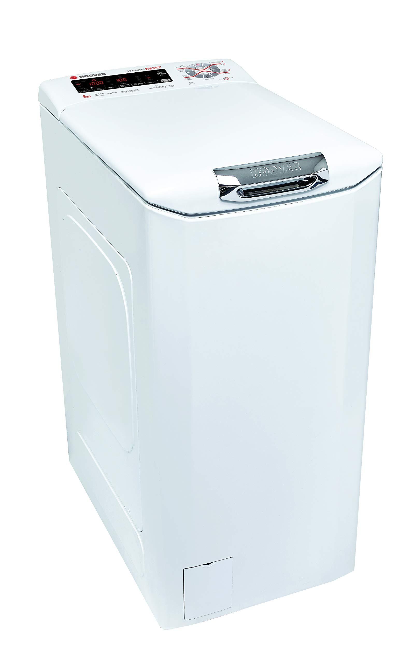 Hoover-HNFTS-S684TAH-01-Waschmaschine-freistehend-8-kg-1400-Umin-A–Waschmaschinen-freistehend-Toplader-Wei-Tasten-Touchscreen-hoch-180-