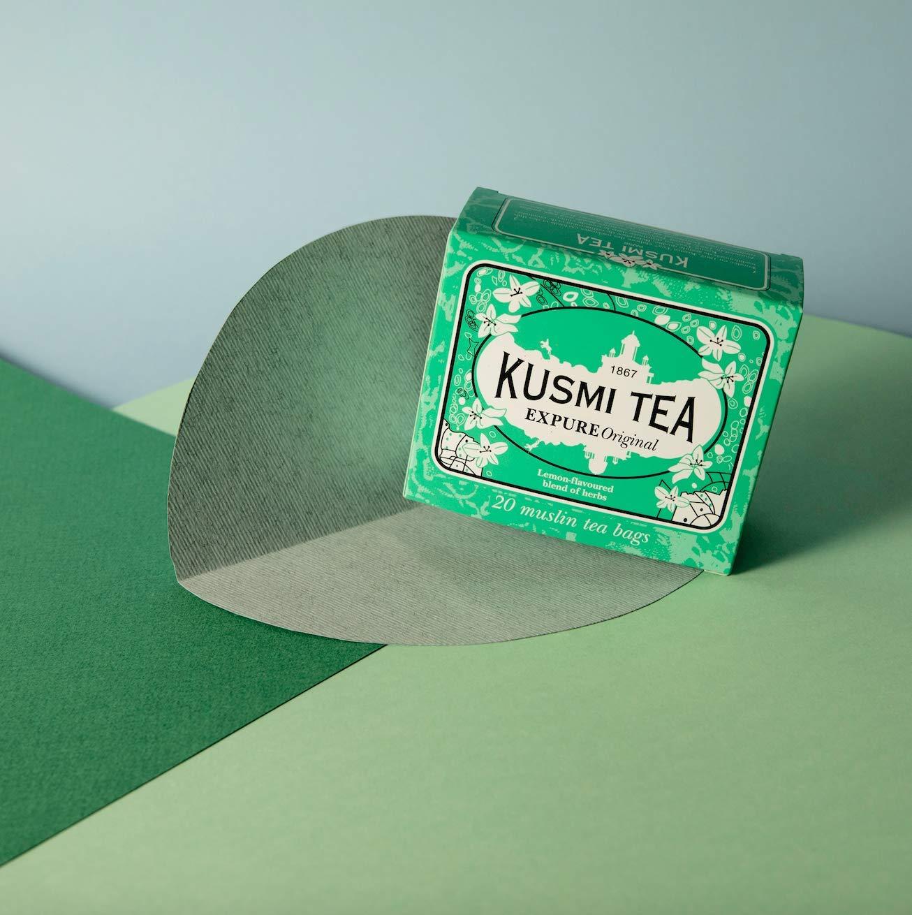 Kusmi-Tea-Wellness-Tee-Expure-Original-Mischung-mit-Mate-grnem-Tee-und-Zitronengras-aromatisiert-Zitrone-Dose-mit-20-Teebeuteln-aus-PLA-hergestellt-in-Frankreich