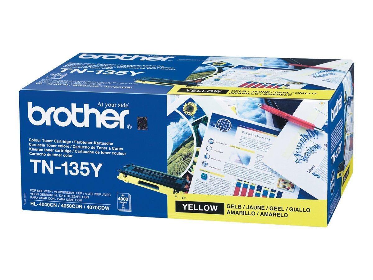 brother-Lasertoner-TN-135YTN135Y-gelb-Inh4000