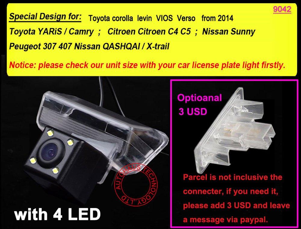 Dynavsal-Auto-HD-CCD-Rckfahrkamera-170-Weitwinkel-mit-Radar-Sensor-Einparkhilfe-Universal-fr-PALNTSC-Schwarz-fr-Toyota-Corolla-Levin-VIOS-Verso-Yaris-Camry-Citroen-C4C5-Nissan-Sunny-Peugeot-307-407-Ni