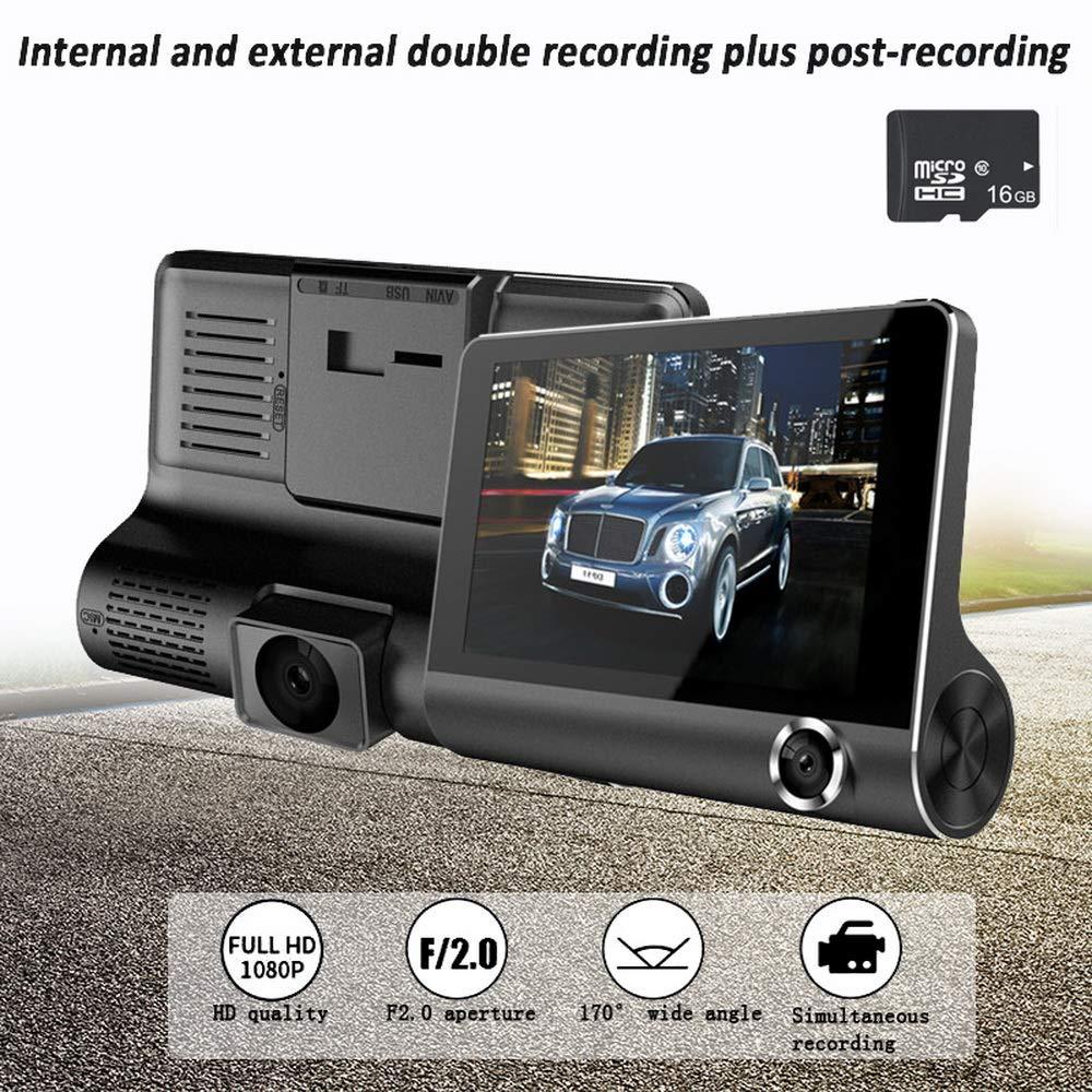 Godagoda-Auto-Kamera-Dashcam-DVR-Weitwinkelauto-4Zoll-Recorder-mit-DREI-Linsen-innerhalb-und-auerhalb-des-Rekorders-mit-DREI-Aufnahmen-Schwarz