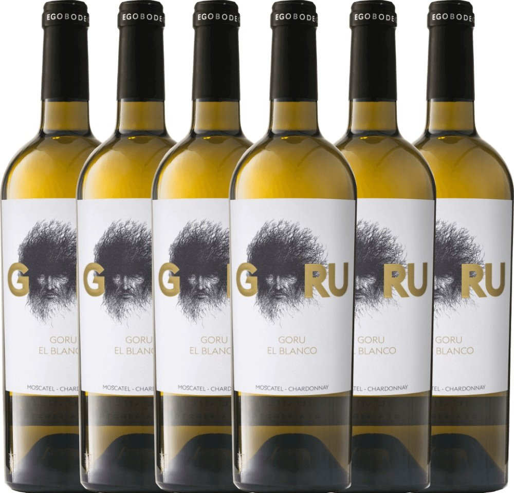 6er-Paket-Goru-El-Blanco-Moscatel-Chardonnay-2017-Ego-Bodegas-trockener-Weiwein-spanischer-Sommerwein-aus-Murcia-6-x-075-Liter