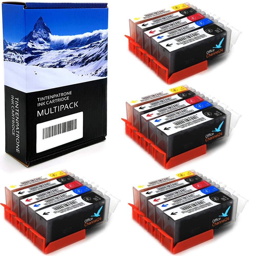 20-Office-Channel24-Drucker-Patronen-kompatibel-zu-Canon-PGI-550-BK-CLI-551-C-CLI-551M-CLI-551-Y-und-CLI-551-PBK-fr-Canon-Pixma-MX925-MX725-IP7250-MG5450-MG-5655-MG6350-MG7150-MG-6450-MG-5550