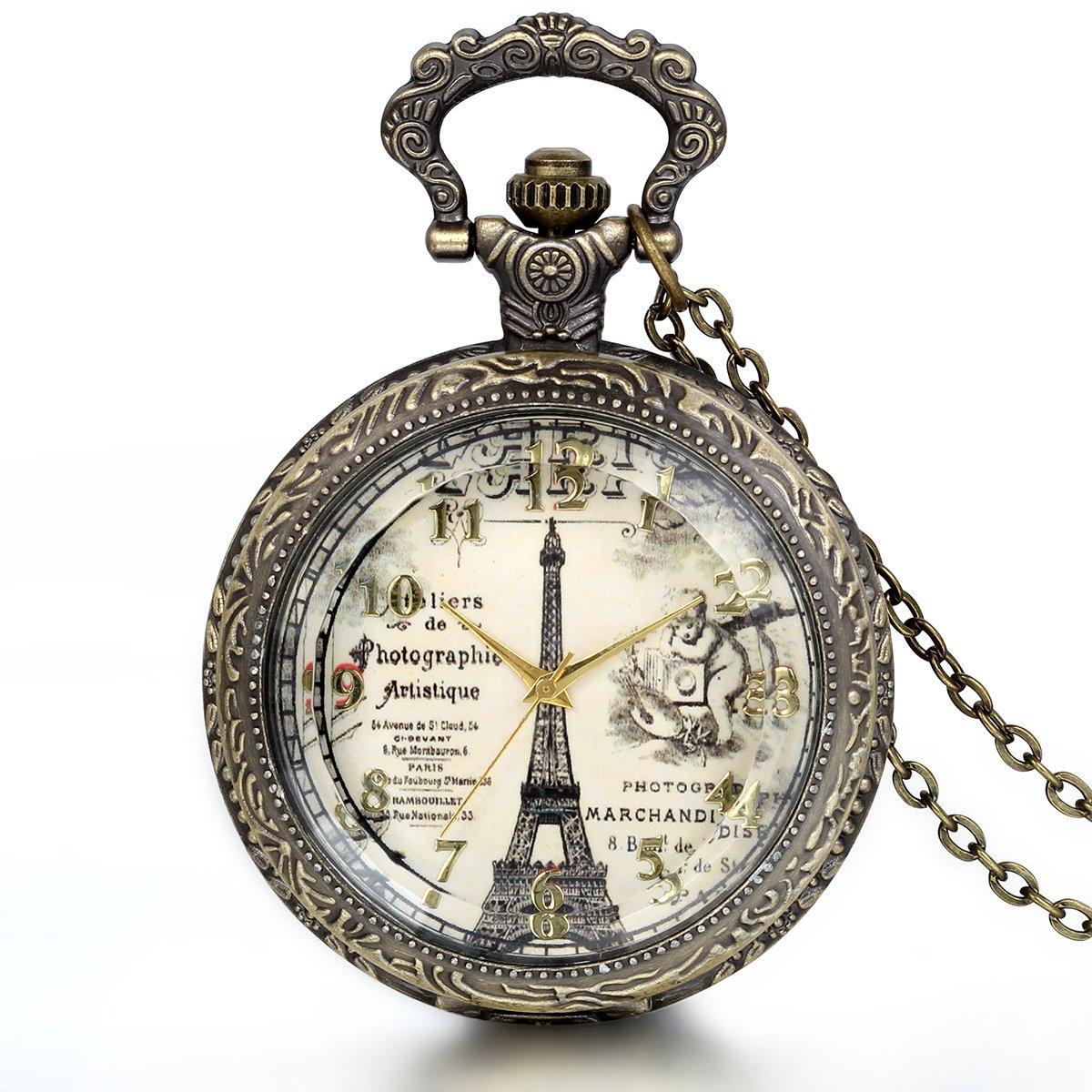 JewelryWe-Herren-Damen-Taschenuhr-Retro-Vintage-Transparent-Paris-Eiffelturm-Uhr-Anhnger-Analog-Quarz-Kettenuhr-Pullover-Halskette-Kette-3-Modellen